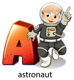 A letter A for astronaut Stock Image