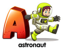 A letter A for astronaut Stock Photography