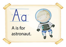 A letter A for astronaut Royalty Free Stock Image