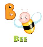 Letter B. Alphabet for children. Page with the letter B royalty free illustration