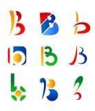 Letter B. Set of letter B symbols stock illustration