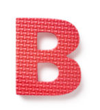 Letter B. Isolated on the white background Royalty Free Stock Photography