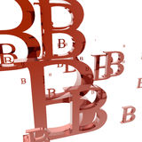 Letter B. Text objects I created Stock Photography