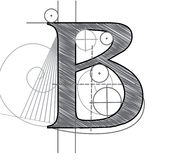 Letter B royalty free illustration