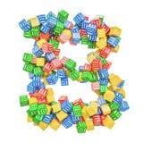 Letter B, from ABC Alphabet Wooden Blocks. 3D rendering royalty free illustration