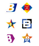 Letter B alphabet logo vector Royalty Free Stock Images