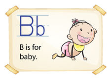 A letter B for baby Royalty Free Stock Photos