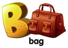A letter B for bag Stock Image