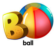 A letter B for ball Stock Photography