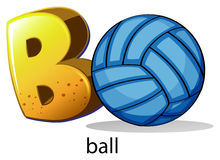 A letter B for ball Stock Image