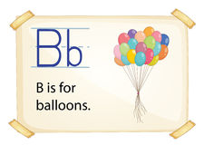 A letter B for balloons Stock Photo