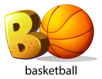 A letter B for basketball Royalty Free Stock Image