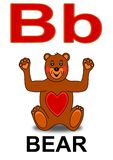 Letter B bear Royalty Free Stock Image