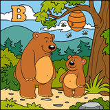 Letter B: bears, colorful alphabet Stock Photo