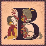 Letter B. Beauty and the Beast Stock Images