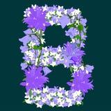 Letter B - Bell-flower Stock Image
