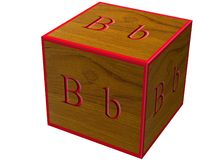 Letter B block Royalty Free Stock Photos
