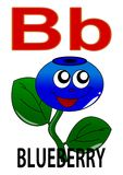Letter B blueberry Royalty Free Stock Photos