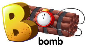A letter B for bomb Stock Photography