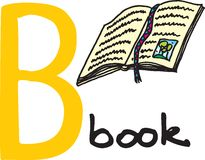 Letter B - book Royalty Free Stock Images
