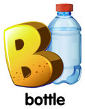 A letter B for bottle Stock Images