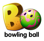 A letter B for bowling ball Royalty Free Stock Images