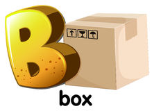 A letter B for box. Illustration of a letter B for box on a white background Stock Photography