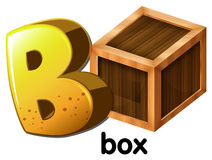 A letter B for box. An image with a letter B for box on a white background Stock Photos