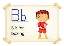 A letter B for boxing Stock Images