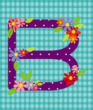 The letter B Bright floral element of colorful alphabet in  Stock Photo