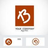 Letter b brown orange logo vector illustration