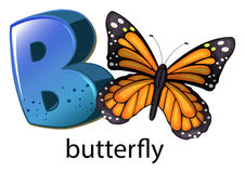 A letter B for butterfly Royalty Free Stock Image