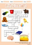 The Letter B Crossword. Illustration royalty free illustration