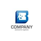 Letter B 3d box concept. Strong elegant letter B 3d box  technology concept Stock Photo