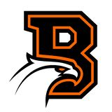 Letter B with eagle head. Great for sports logotypes and team mascots royalty free illustration