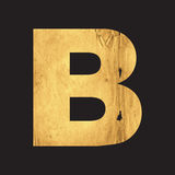 Letter B of the English alphabet Stock Image