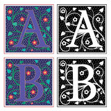 Letter A and B Royalty Free Stock Image