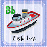 Letter B. Flashcard letter B is for boat royalty free illustration