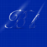 Letter B in Italics Writing Royalty Free Stock Photo