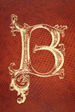 Letter B on leather Royalty Free Stock Photography