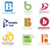 Letter B Logo. Alphabetical Logo Design Concepts. Letter B Stock Photo