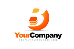Letter B Logo. An illustration of a logo representing Letter B logo out of a sphere shape royalty free illustration