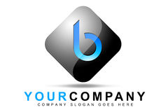 Letter B Logo. An illustration of a logo representing Letter B logo on a 3d rounded square shape royalty free illustration