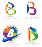 Letter B logo. Colored letter B logo company logo set royalty free illustration