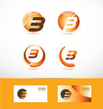 Letter b logo icon set Royalty Free Stock Images