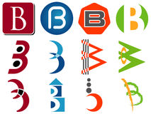 Letter B Logo Icons Stock Image