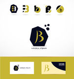 Letter B logo icons set Stock Image