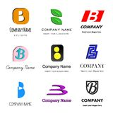 Letter B logo. Set of alphabetical Logo Design with different moods and Concepts - Letter B Royalty Free Stock Images