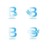 Letter B logo. Set of icons illustrations stock illustration