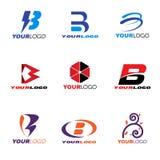 Letter B logo vector set design royalty free illustration